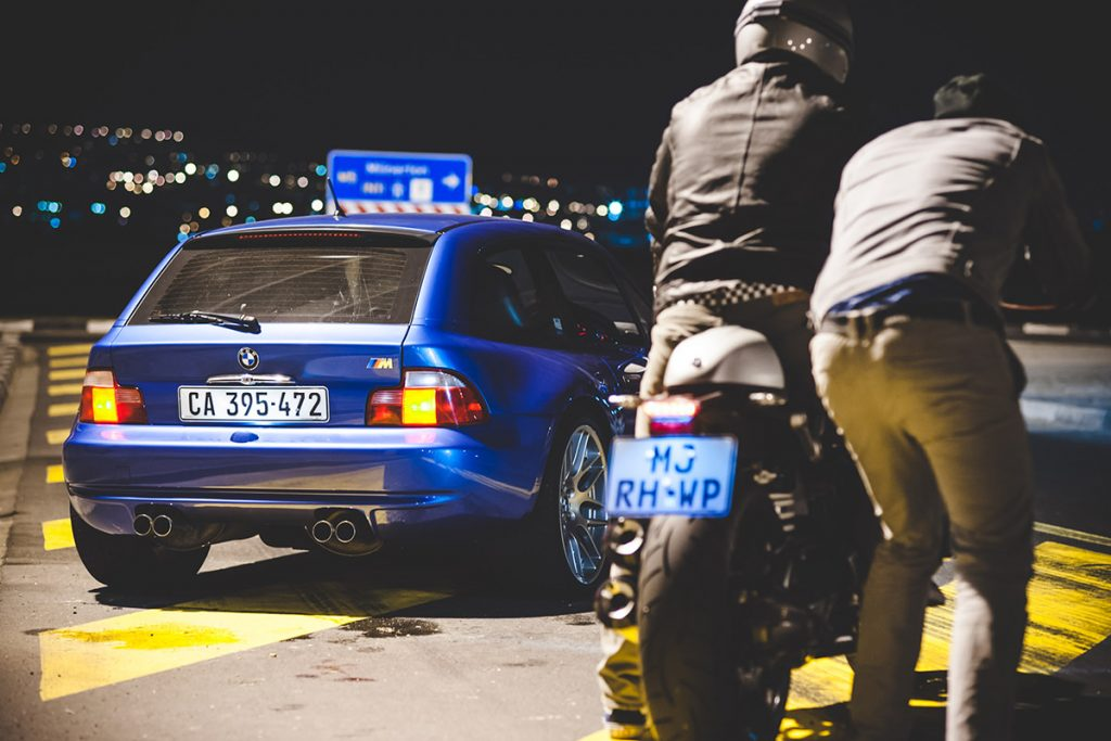 Devin Paisley shoots a BMW chase at night.