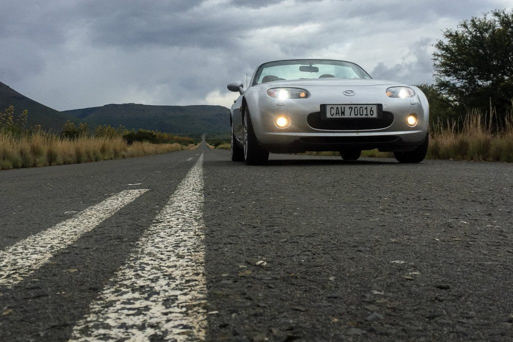 Buying a MX-5 across the country, and driving it home.